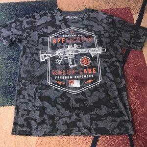 Men's Affliction shirt Freedom Defender 2XL NWOT
